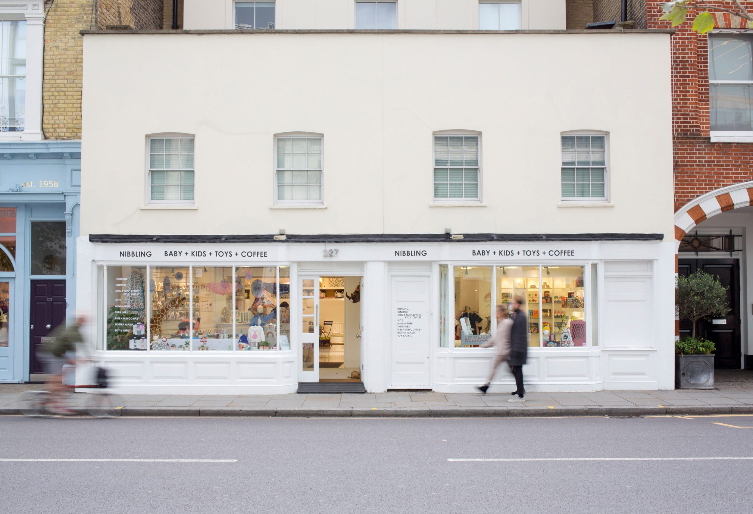 Exterior shot of baby and children's clothes shop on Kings Road