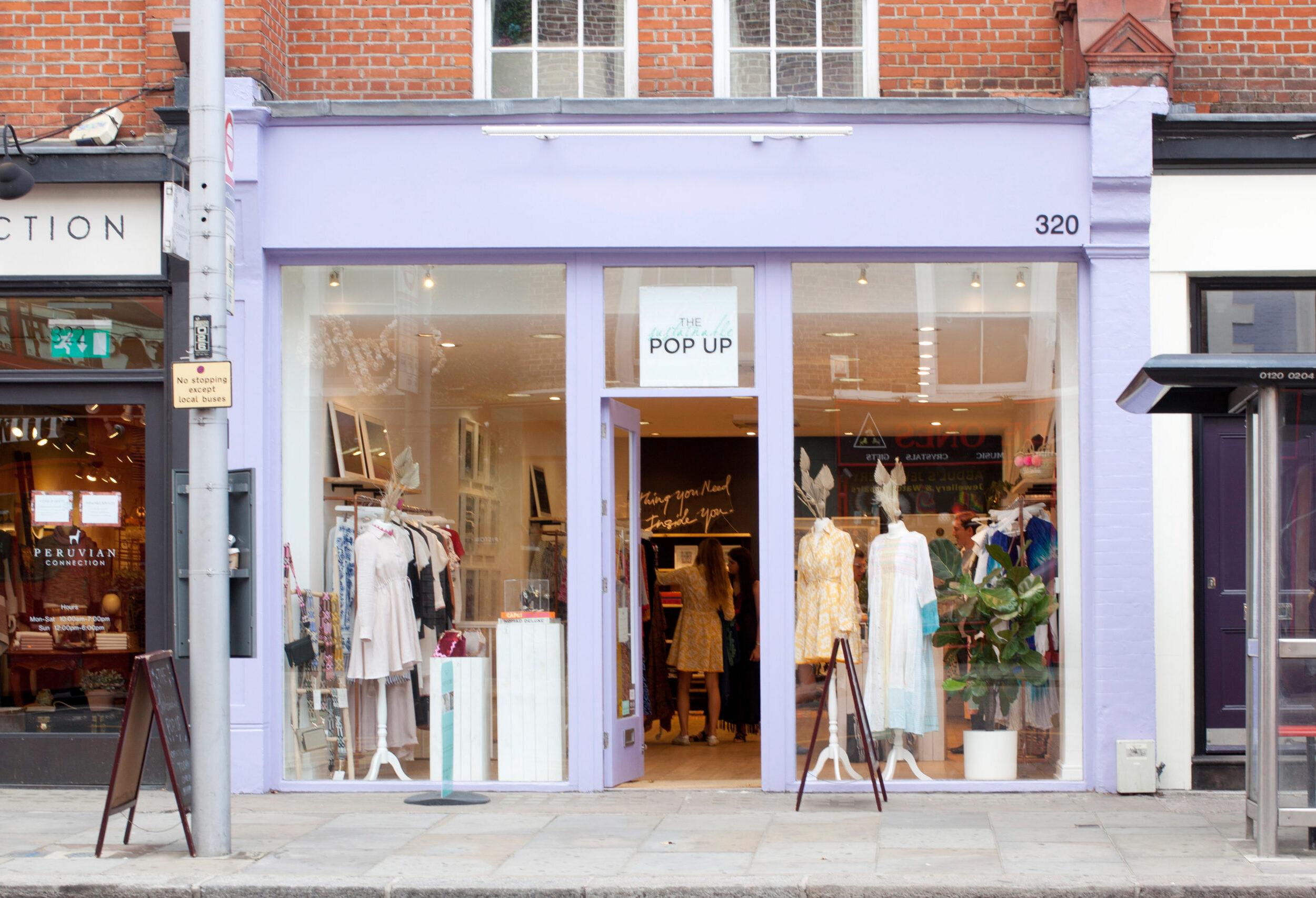 Violet pop-up fashion shop at 320 King's road