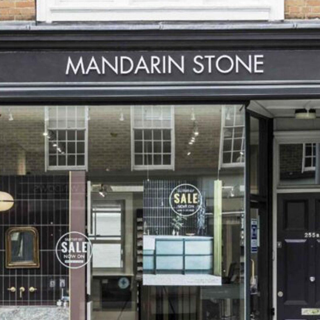 Mandarin Stone storefront in Chelsea