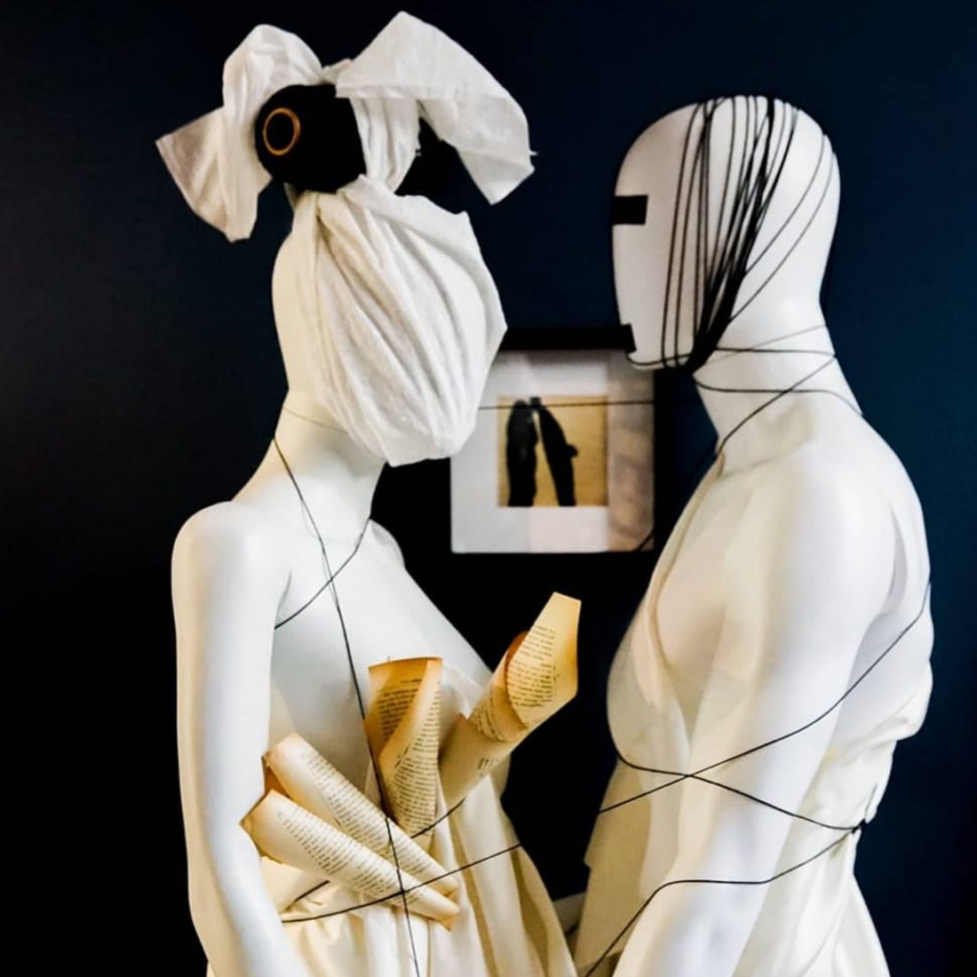 Artwork of two mannequins